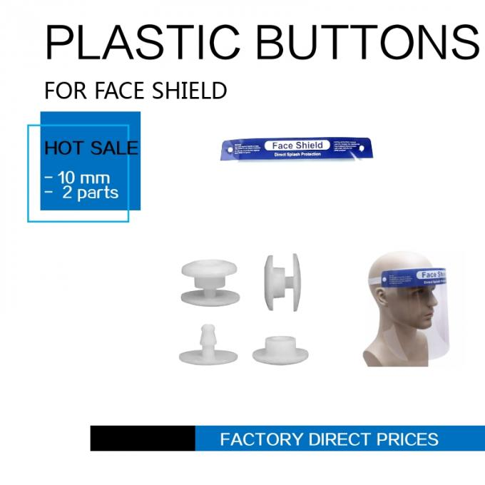 fix SNAP PLASTIC buttons FOR face shield