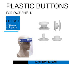 Face Shield Mask Button Snap Button 10mm 2 Parts Certification CE FDA تامین کننده