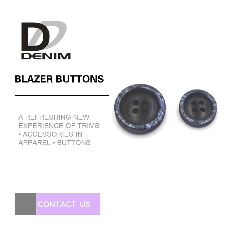 4 سوراخ طراحی برف Black Blazer Buttons، Buttons Custom Apparel Test Pass Pass